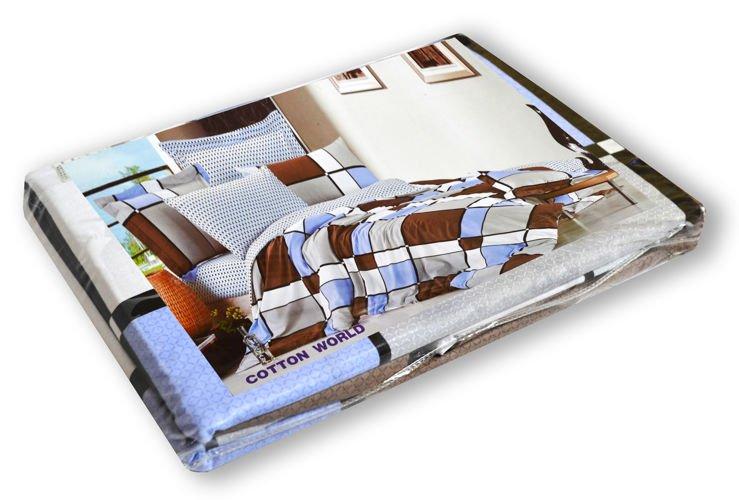 3 tlg Bettbezug Kissenbezug Bettwäsche Bettgarnitur Mikrofaser 3D 160x200 cm Zip