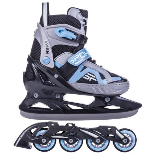 inline skates kinder erwachsene inliner 2in1 verstellbar. Black Bedroom Furniture Sets. Home Design Ideas