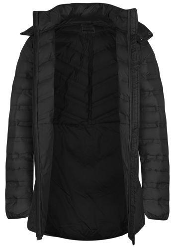 4dca5d3e8f6a23 Damski płaszcz puchowy pikowany KUD608 Outhorn czarny - ABA Sport