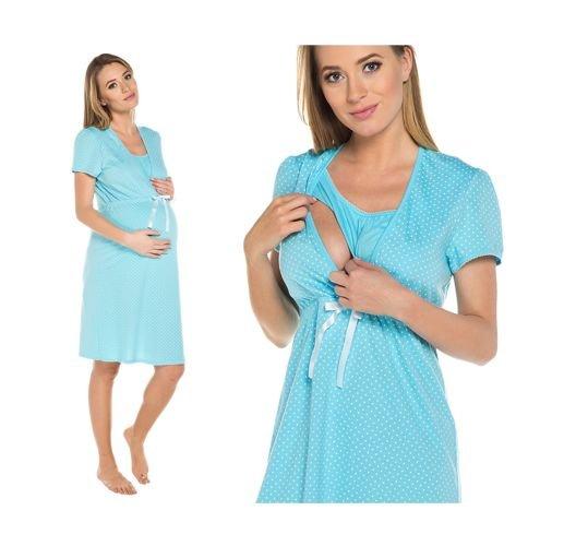 5cbab0865a9061 Koszula ciążowa Radość Italian Fashion niebieski - ABA Sport